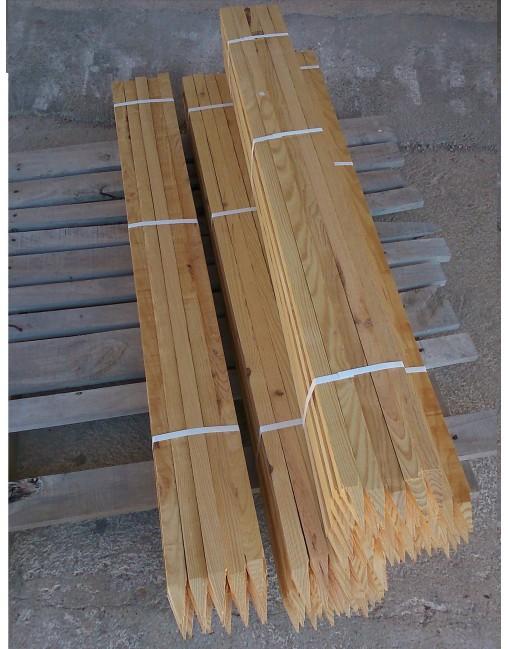 tutores de madera para almendro olivo y frutales