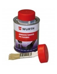 Adhesivo WURTH tubería PVC flexible, 250 mL